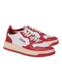 Autry Low Leather White Red
