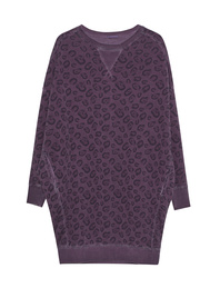 GREY MARL  Oversize Sweater Leo Lilac