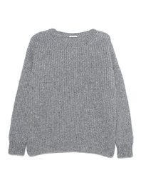 GREY MARL  Knitted Crew Grey