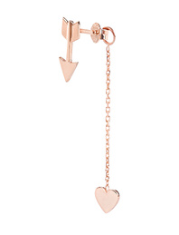ART YOUTH SOCIETY Cupid With Heart On Chain Rosegold