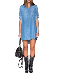 bella dahl Pocket Shirt Dress Blue
