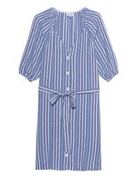 bella dahl Stripes Dress Blue White