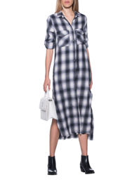 bella dahl Checked Long Grey