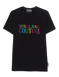 VERSACE JEANS COUTURE Logo Multi Jersey Black