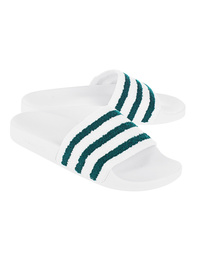 ADIDAS ORIGINALS Adilette Terry White/Green