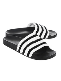 ADIDAS ORIGINALS Adilette Terry White/Black