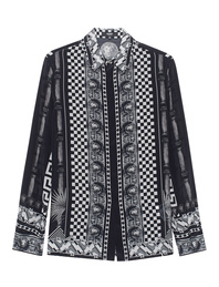 VERSUS VERSACE by ANTHONY VACCARELLO Button Square Print Black