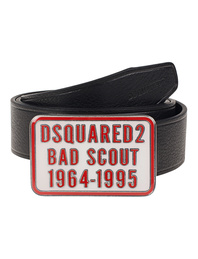 DSQUARED2 Script Leather Black