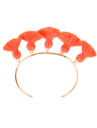 Marte Frisnes Raquel Tassel Bangle Hot Orange