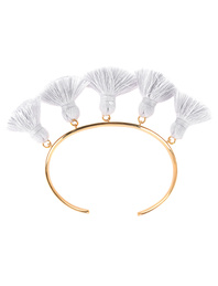 Marte Frisnes Raquel Tassel Bangle Light Grey
