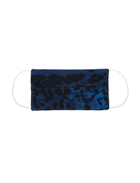JADICTED Face Mask Silk Blue Leopard