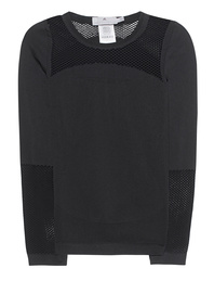 ADIDAS BY STELLA MCCARTNEY The Seamless Mesh Top Black