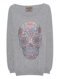 CAMOUFLAGE COUTURE STORK Mexican Skull Grey