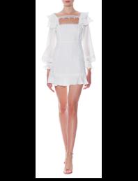 FOR LOVE AND LEMONS Crema Silk Linen White