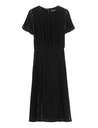JADICTED Puffed Sleeve Velvet Black