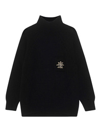 Ermanno Scervino Turtle Neck Crystal Black