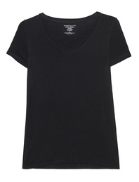 Majestic Filatures  Oversize V Neck Black