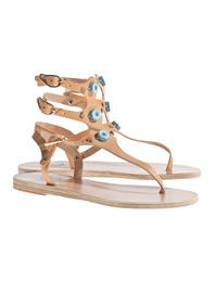 Ancient Greek Sandals Eyes High Natural