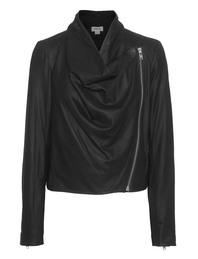 HELMUT LANG Drape Front Leather Black