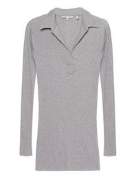 HELMUT LANG Collar Henley Light Grey