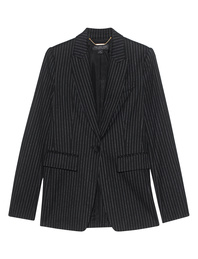 Rachel Zoe Collection Blazer Stripes Black White