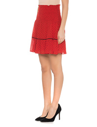 Ganni Mullin Georgette Fiery Red