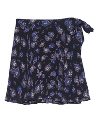 Ganni Print Georgette Flower Black