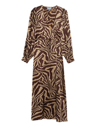 Ganni Tannin Silk Zebra Brown