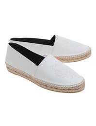 KENZO Espadrilles Tiger Leather White