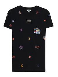 KENZO Allover Multi Icons Black