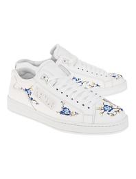 KENZO Tennix Flowers Embroidered White