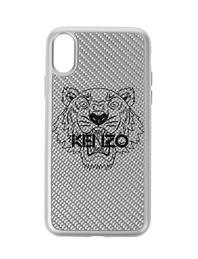 KENZO iPhone X Carbon Fiber Silver