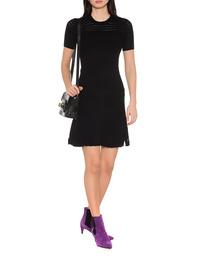 KENZO Solid Lacehole Dress Black