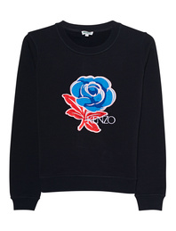 KENZO Fitted Sweatshirt Black