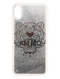 KENZO Case iPhone X+ Tiger Head Silver