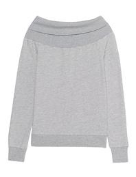 Pam&Gela Off Shoulder Sweatshirt Heather Grey