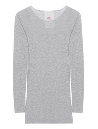FRIENDLY HUNTING Pury Long Crew Light Grey Melange