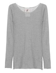 FRIENDLY HUNTING Pury Long Crewneck Light Grey Melange