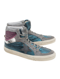 GOLDEN GOOSE 2.12 Green Silver Purple