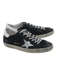 GOLDEN GOOSE Superstar Blue Suede Silver Star