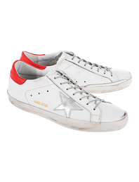 GOLDEN GOOSE Superstar White Red