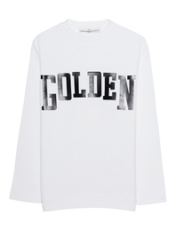 GOLDEN GOOSE Raw Cut White Black