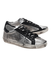 GOLDEN GOOSE Superstar Ribbed Off Silver