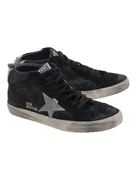 GOLDEN GOOSE Mid Star Black Silver
