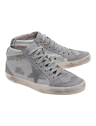 GOLDEN GOOSE Mid Star Grey Glitter