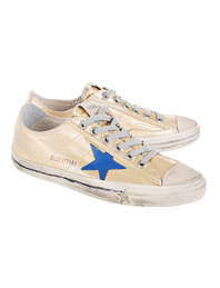 GOLDEN GOOSE DELUXE BRAND V-Star Gold Canvas