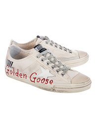 GOLDEN GOOSE V-Star Cream Canvas