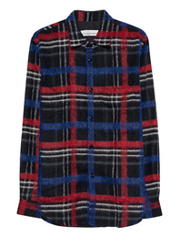 GOLDEN GOOSE DELUXE BRAND Checked Blue-Red