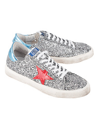 GOLDEN GOOSE DELUXE BRAND May Grey Glitter Red Star