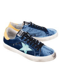 GOLDEN GOOSE DELUXE BRAND May Bluette Velvet Aquamarine Star